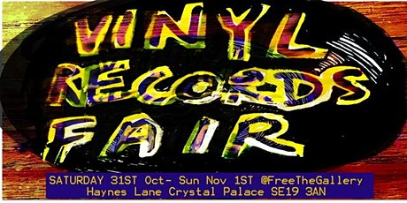 Vinyl Records Fair . Free Friendly crate-diggers Weekend market tickets