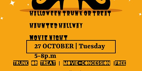 Trunk or Treat /Movie Night tickets