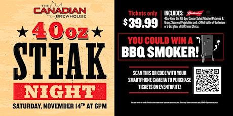 40oz Steak Night (Edmonton North) tickets