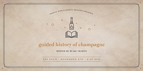 Guided History of Champagne tickets