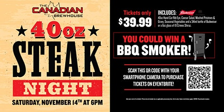 40oz Steak Night (Saskatoon South) tickets