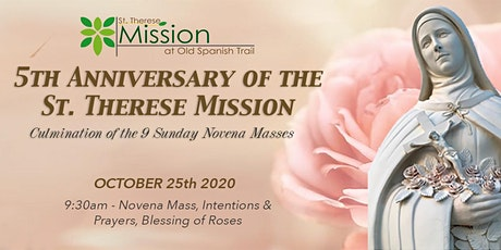 October 25, 2020 - 5th Anniversary of the St. Therese Mission tickets