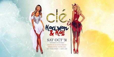 Heaven & Hell / Saturday Oct 31st / Clé tickets