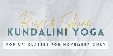 Rise & Shine: Kundalini Yoga 'pop up'