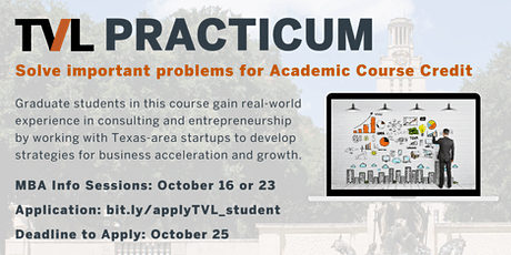 TVL Practicum  MBAs: Hands-on Experience in Consulting & Startup Leadership tickets
