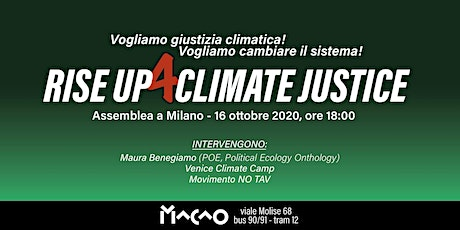 RISE UP FOR CLIMATE JUSTICE-MILANO tickets