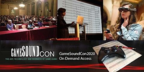 GameSoundCon 2020 On-demand Access biglietti