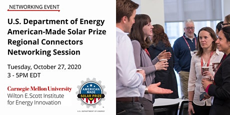 DOE American-Made Solar Prize Regional Connectors Networking Session tickets