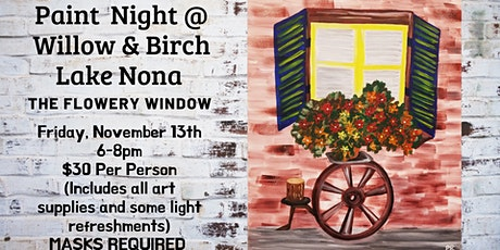 The Flowery Window Paint Night tickets
