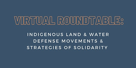 Indigenous Land & Water Defense Actions & Strategies of Solidarity tickets