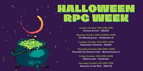 Halloween RPG Week tickets