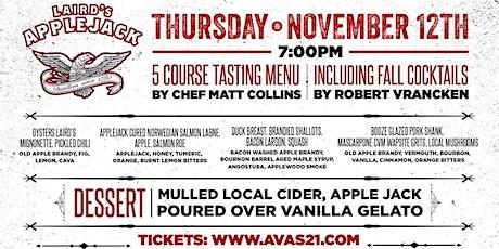 11/12 Lairds Applejack Cocktail Dinner, Ava's Kitchen & Bar Kennilworth  NJ tickets