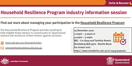 Household Resilience Information Session tickets