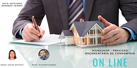 Workshop - Previsão Orçamentária de Condomínio ingressos