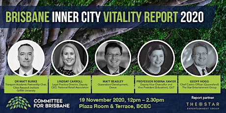 Brisbane Inner City Vitality Report 2020 tickets