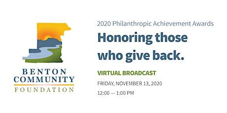 2020 Philanthropic Achievement Awards tickets