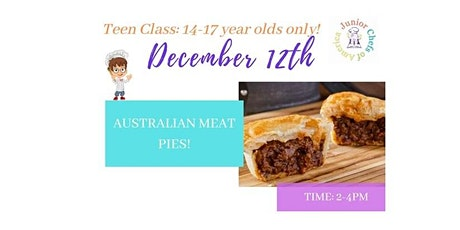 TEENS (13-17) In-Person Cooking Class - Australian Meat Pies -PM tickets