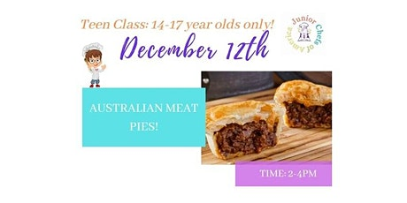 TEENS (13-17)  Online Cooking Class - Australian Meat Pies-PM tickets