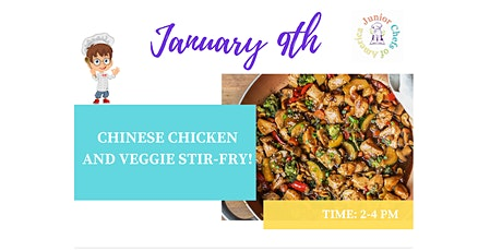 Kids(4-12)In-Person Cooking Class-Chinese Chicken & Veggie Stir Fry-PM tickets