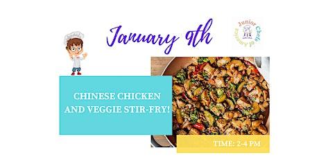 Kids (4-12) ONLINE Cooking Class -  Chinese Chicken & Veggie Stir Fry tickets