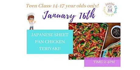 TEENS (13-17)  Online Cooking Class - Japanese Sheet Pan Chicken Teriyaki tickets