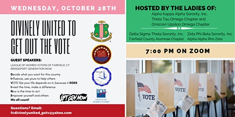"Divinely United to ""Get Out The Vote"" tickets"