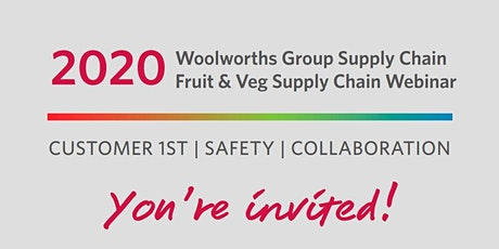 Woolworths Fruit & Veg supply chain webinar tickets