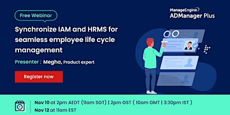 Synchronize IAM and HRMS for seamless employee life cycle management tickets