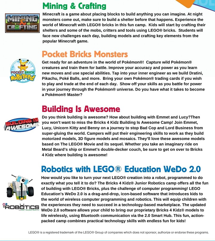 2020 Year-End School Holiday workshops - Bricks4kidz@The Grandstand image