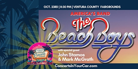 THE BEACH BOYS w/Special Guest JOHN STAMOS  & MARK McGRATH -  8:30 VENTURA tickets
