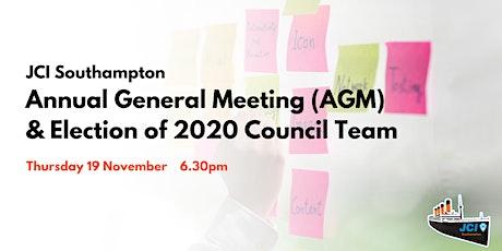JCI Southampton: 2020 AGM & Election of 2021 Counc tickets