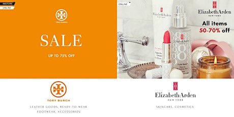 OnTheList Flash Sale - Tory Burch & Elizabeth Arden tickets