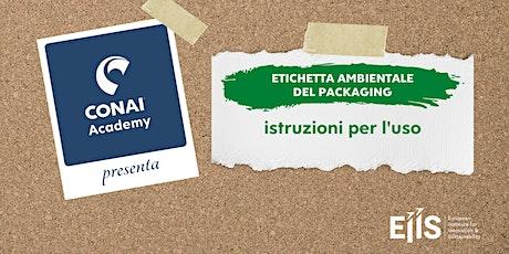 Etichettatura ambientale del packaging - Istruzioni per l'uso biglietti