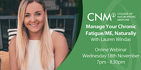 Manage Your Chronic Fatigue/ME, Naturally- IE tickets