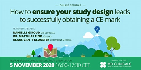 How to ensure your study design leads to successfully obtaining a CE-mark tickets