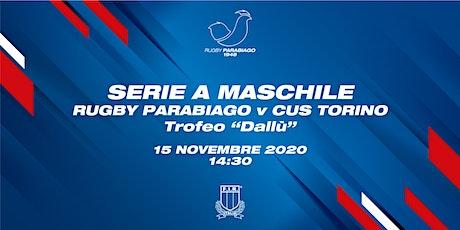 Serie A: Rugby Parabiago vs CUS Torino biglietti