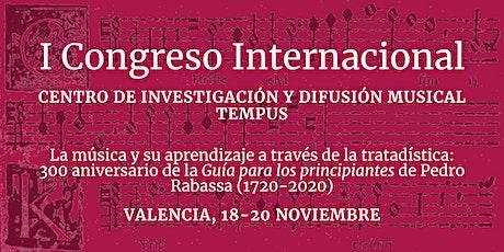 I Congreso Internacional TEMPUS entradas