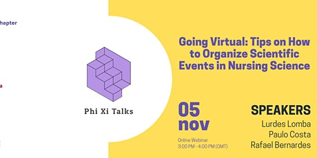 Going Virtual: tips on how to organize scientific events in nursing science tickets