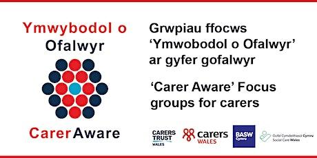 Ffocws grwp ar gyfer gofalwyr / Focus Groups for carers tickets