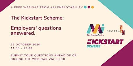 The Kickstart Scheme: Employers' questions answered tickets