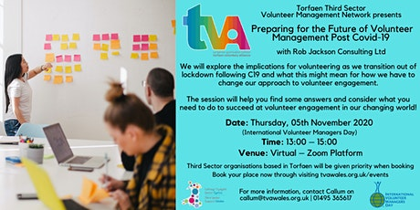 Preparing for the future of volunteer management after COVID-19 tickets