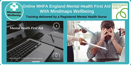 Online MHFA England Mental Health First Aid  3/4 Nov tickets