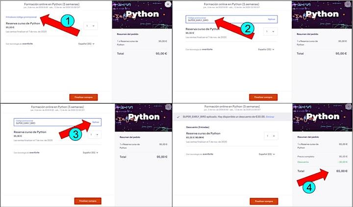 Imagen de Formación online en Python (5 semanas)