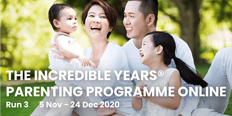 The Incredible Years® Parenting Programme Online Run 3