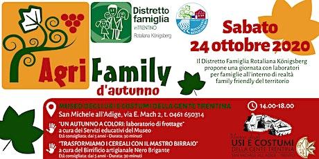 Agrifamily d'autunno biglietti