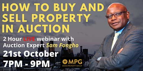 21st October  Midas Evening Event - How To Buy & Sell At Auction tickets