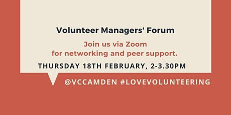 February 2021 Online Volunteer Managers' Forum tickets