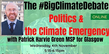 Politics &  the Climate Emergency with Patrick Harvie MSP tickets