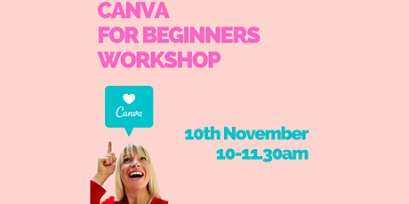 Canva for beginners online workshop tickets