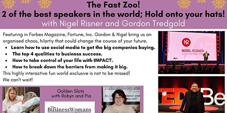 The Fast Zoo! 2 of the best speakers in the world - hold onto your hats! tickets